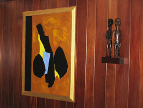 Schulte Fine Art - Acrylic and collage on Board by Robert Motherwell