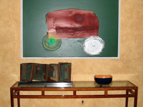 Schulte Fine Art - Painting by Michael Steiner & Sculpture by Ron Mehlman