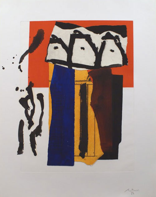 "Schulte Fine Art - Robert Motherwell ""The Red and the Black # 44"""