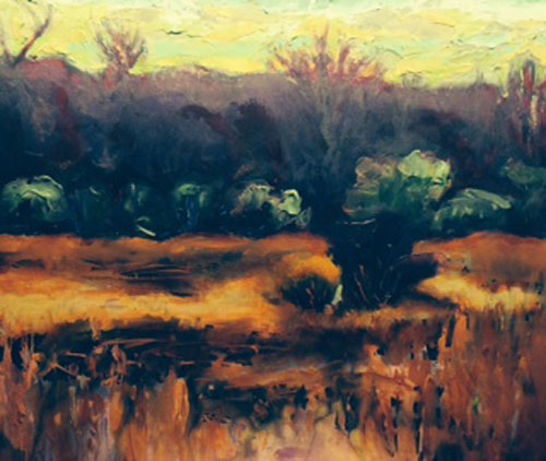 "Schulte Fine Art - Scott Bennett ""Orange Field Maroon Hills"""